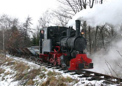 Bahn im Winter