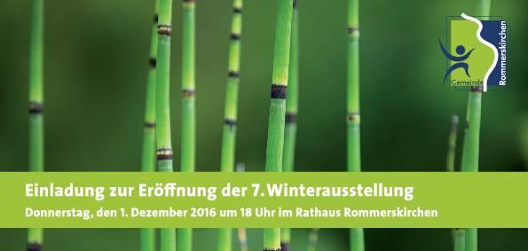 Einladung zur 7. Winterausstellung im Rathaus