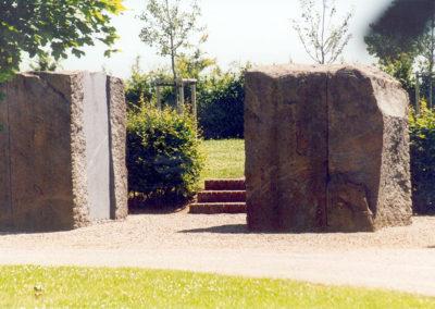 Skulpturen von Rückrim im Aussenbereich