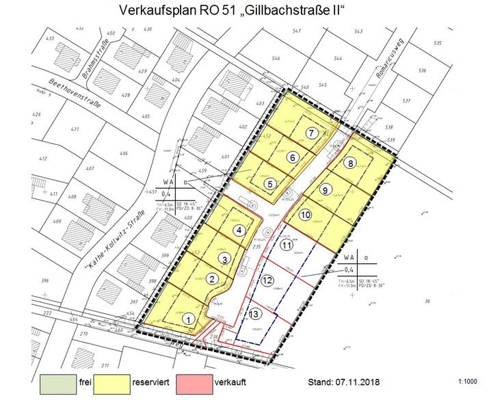 Verkaufsplan RO 51 - Gillbachstrasse II