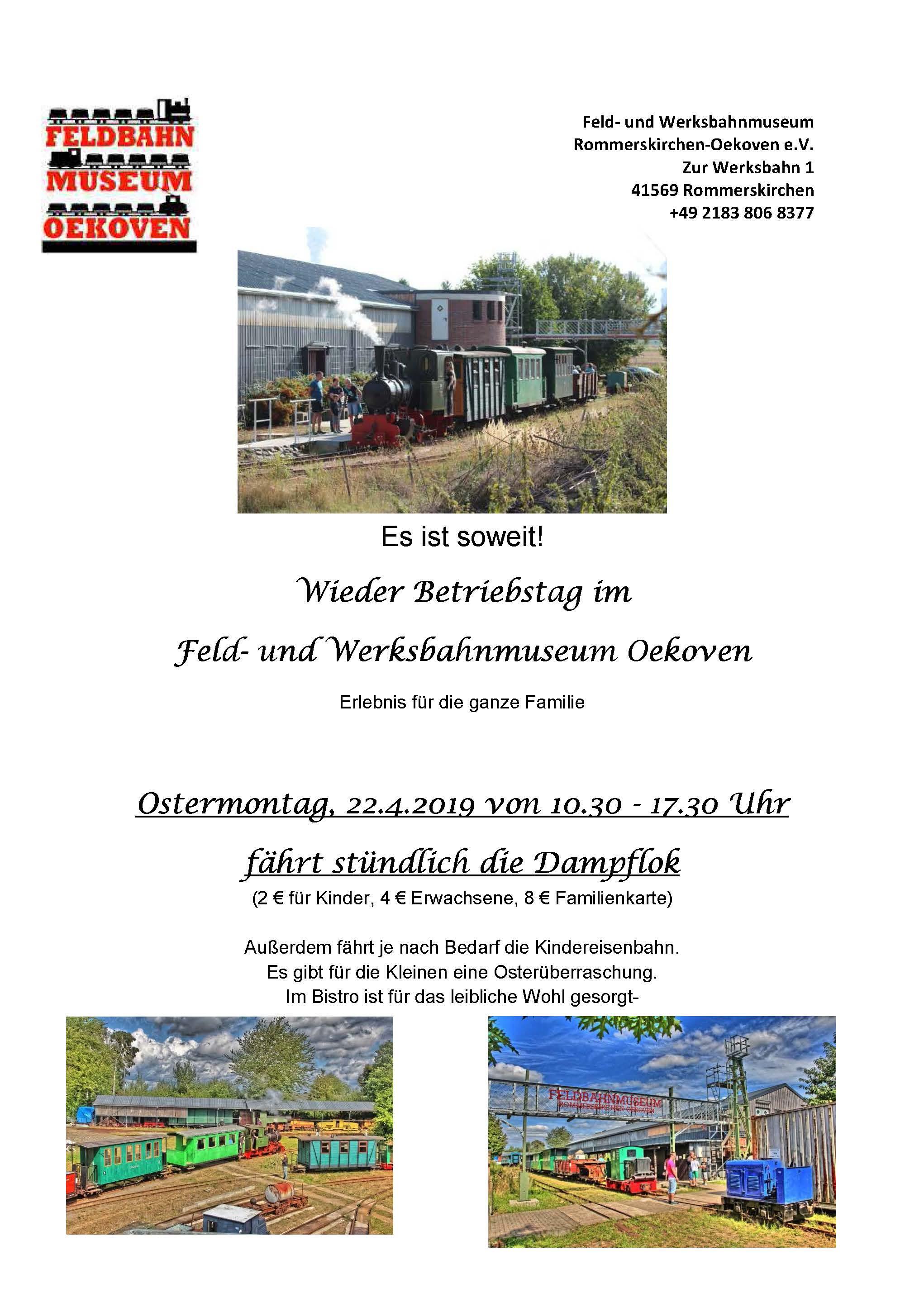 Plakat Feld- und Werksbahnmuseum