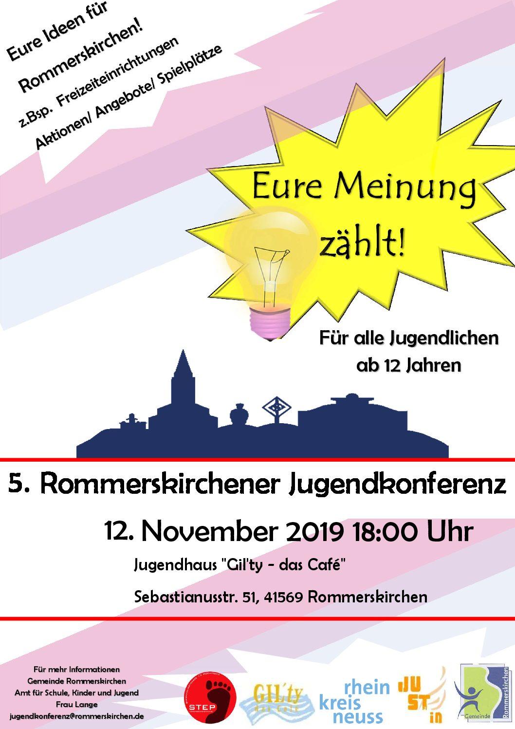 5. Jugendkonferenz als Beteiligungsorgan für junge Menschen in Rommerskirchen