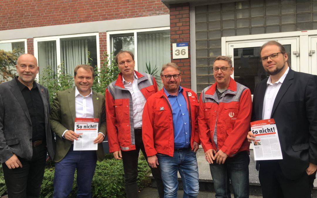 Bürgermeister Dr. Martin Mertens trifft Betriebsrat von Hydro Aluminium