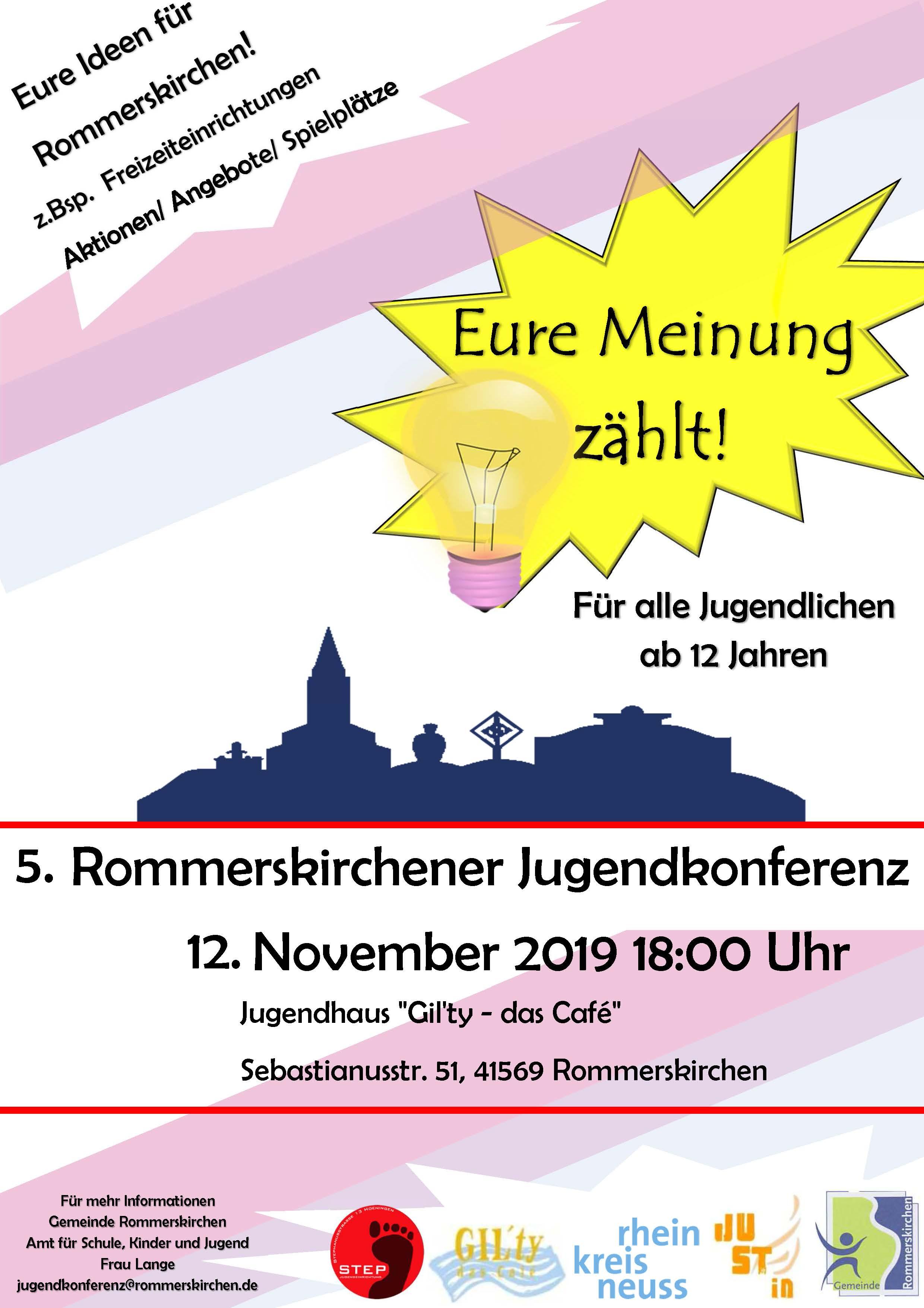 Flyer Jugendkonferenz November 2019
