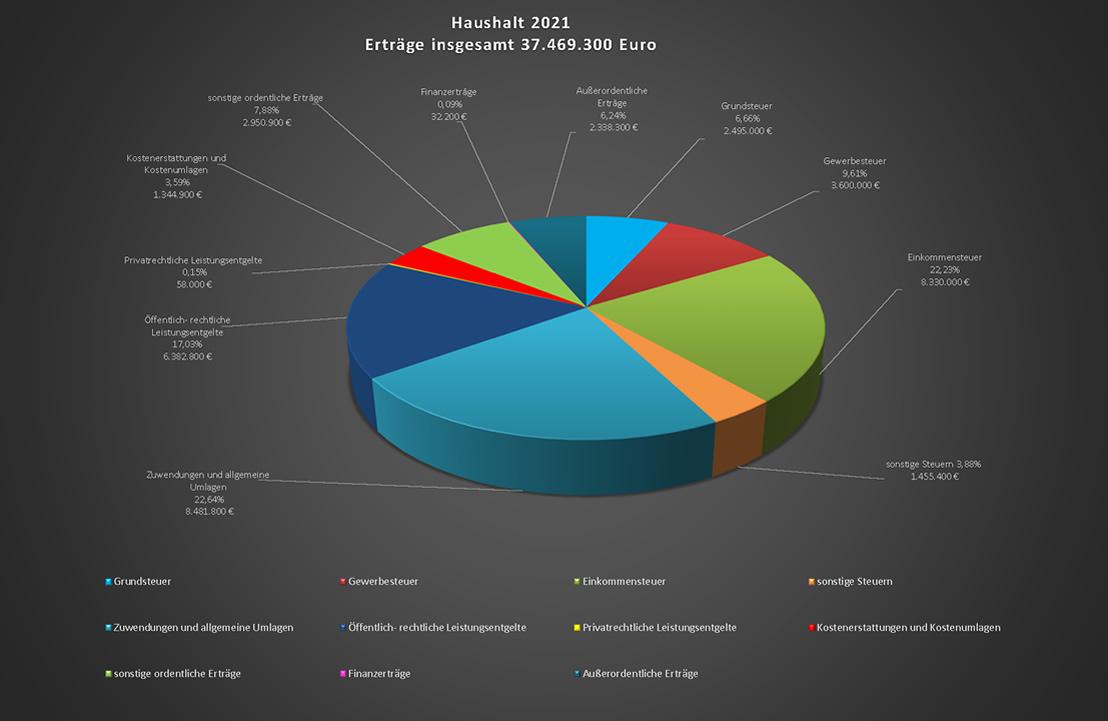 Haushalt 2021 - Erträge